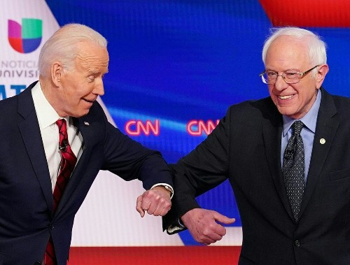 Sanders was losing to Biden anyway. But he lost more in areas with coronavirus cases.