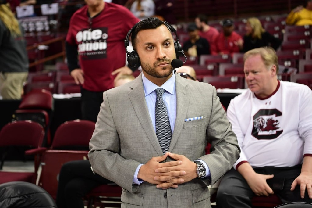 How the son of Pakistani immigrants became the voice of the women's Final Four
