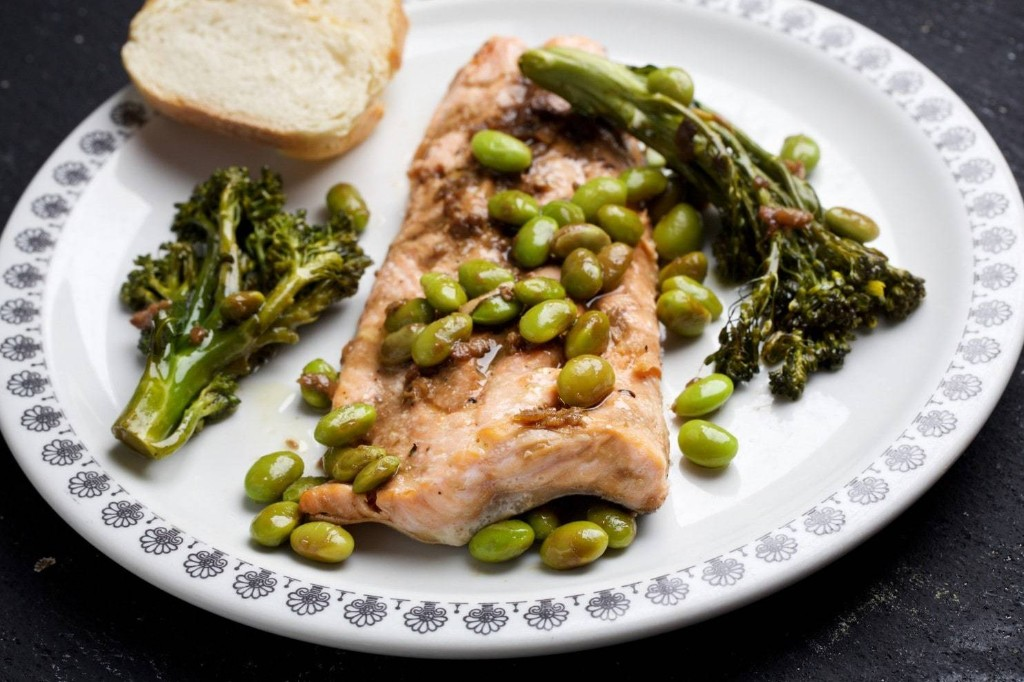 Arctic Char, Broccolini and Edamame With Soy-Ginger Sauce - The Washington Post