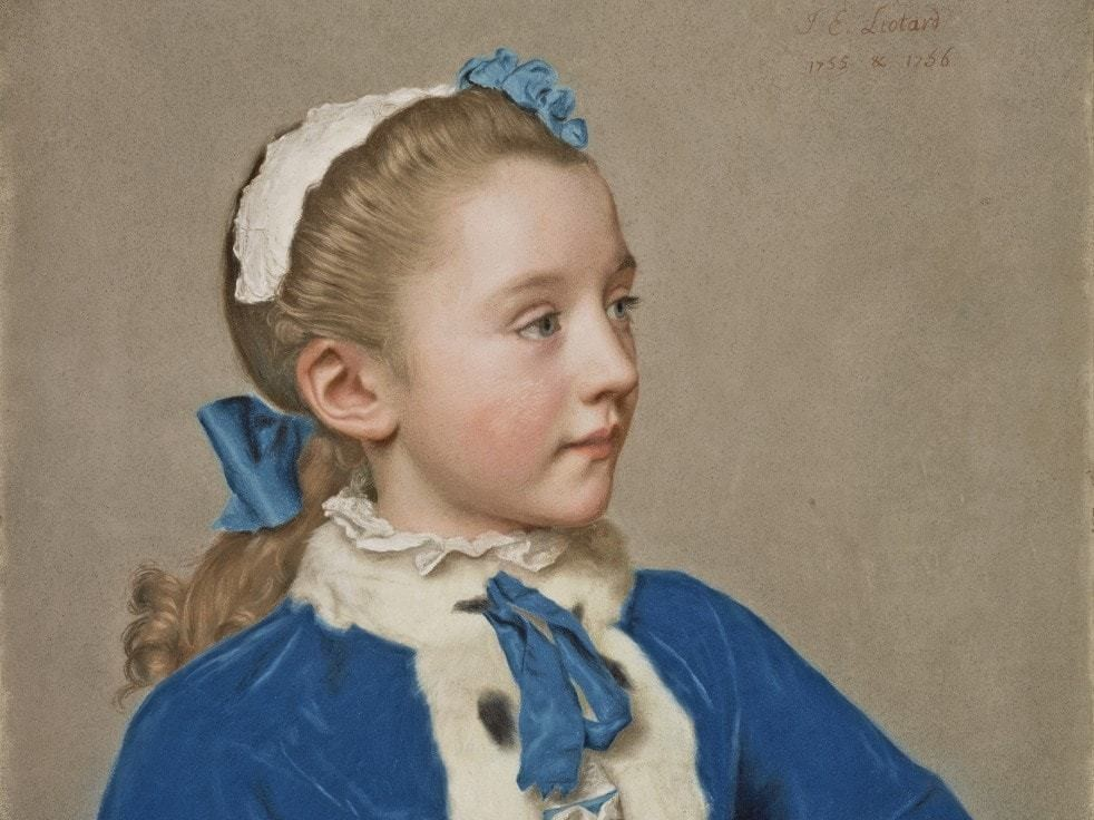 Jean-Étienne Liotard brought the medium of pastel to a level of rare perfection with his portrait of a 7-year-old girl