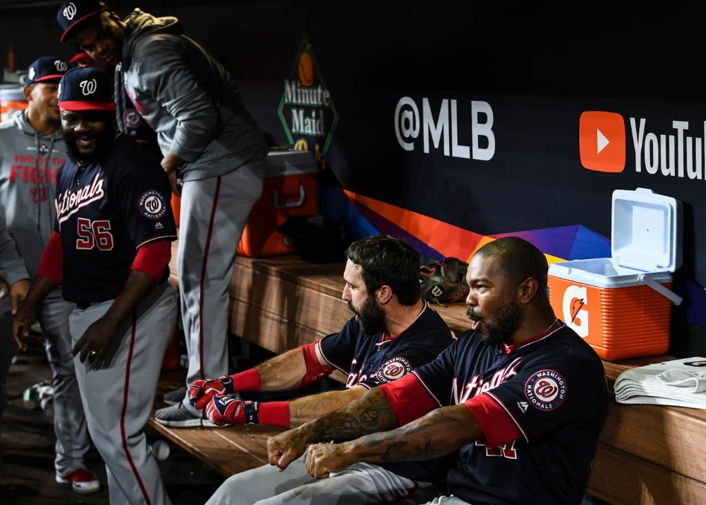 Are the Nats winning because they're dancing or dancing because they're winning? Yep.