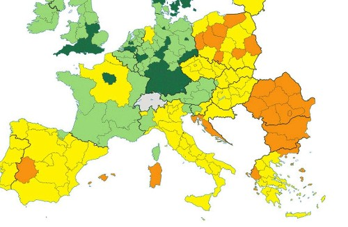 Where Europe is most and least innovative, in 6 maps