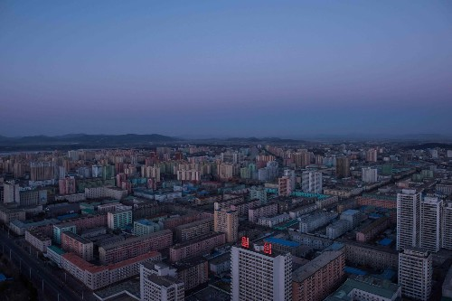Sky high over North Korea — a rare and dazzling 360 video of Pyongyang