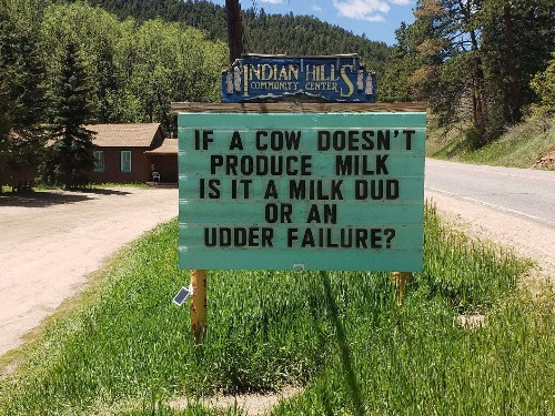 Why this man has become internationally beloved for his dad jokes on a roadside sign