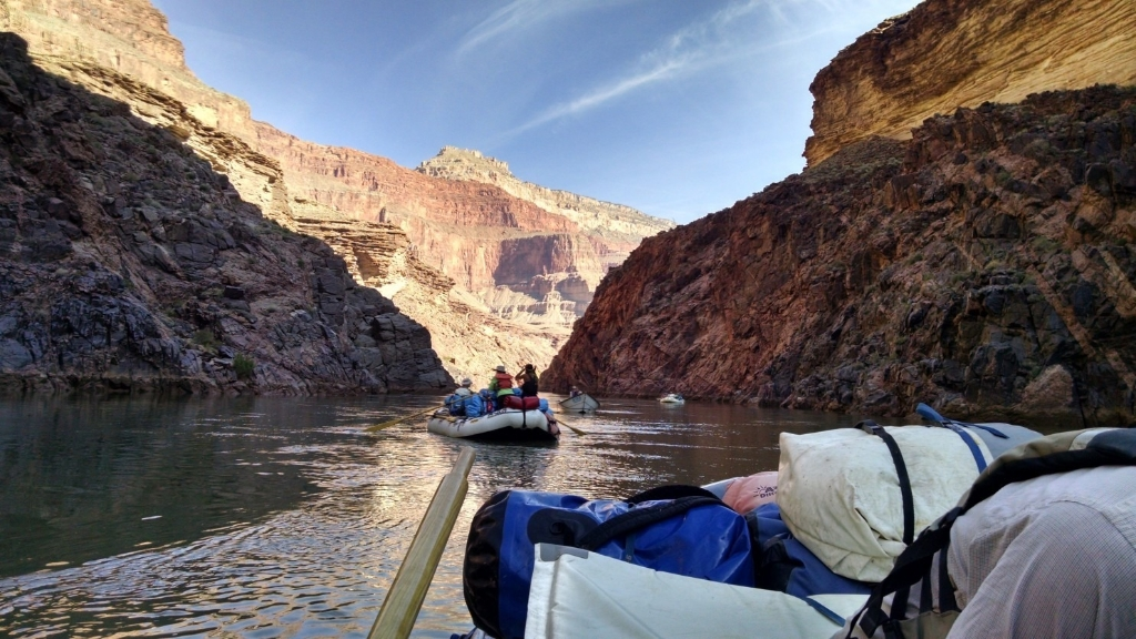 Older adventurers stay young at heart rafting the Grand Canyon's rapids