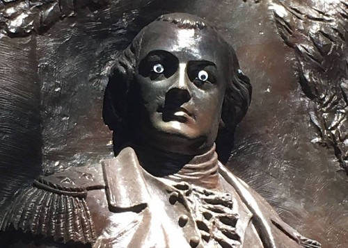 'Who did this?!': Someone put googly eyes on a historic Georgia statue. Police want answers.