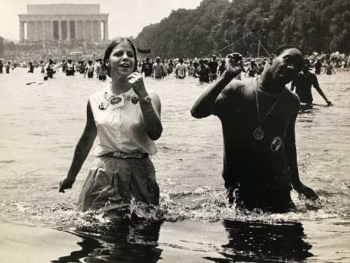 A 50-year-old mystery: Who's that wading in the Lincoln Memorial's Reflecting Pool?