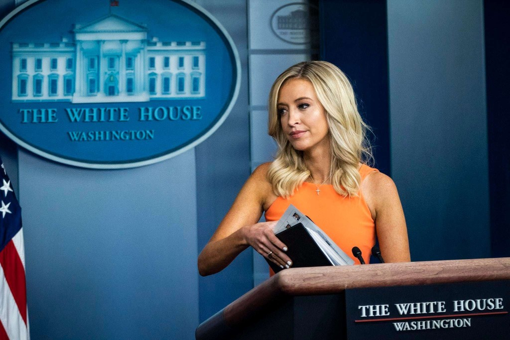 The political theater of Kayleigh McEnany's scripted walk-offs