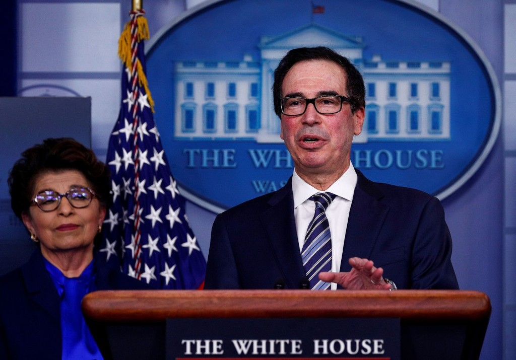 Treasury's Mnuchin seeks additional $250 billion to replenish small-business coronavirus program