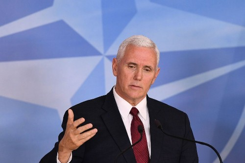 Pence makes stop at Jewish cemetery in Missouri where gravestones were toppled