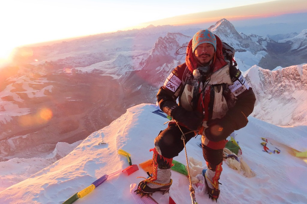 Nepali man shatters speed record for scaling the world's tallest mountains 'to show human capacity'