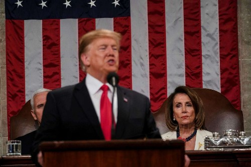 Sharing the State of the Union spotlight, Pelosi quietly makes her own statement