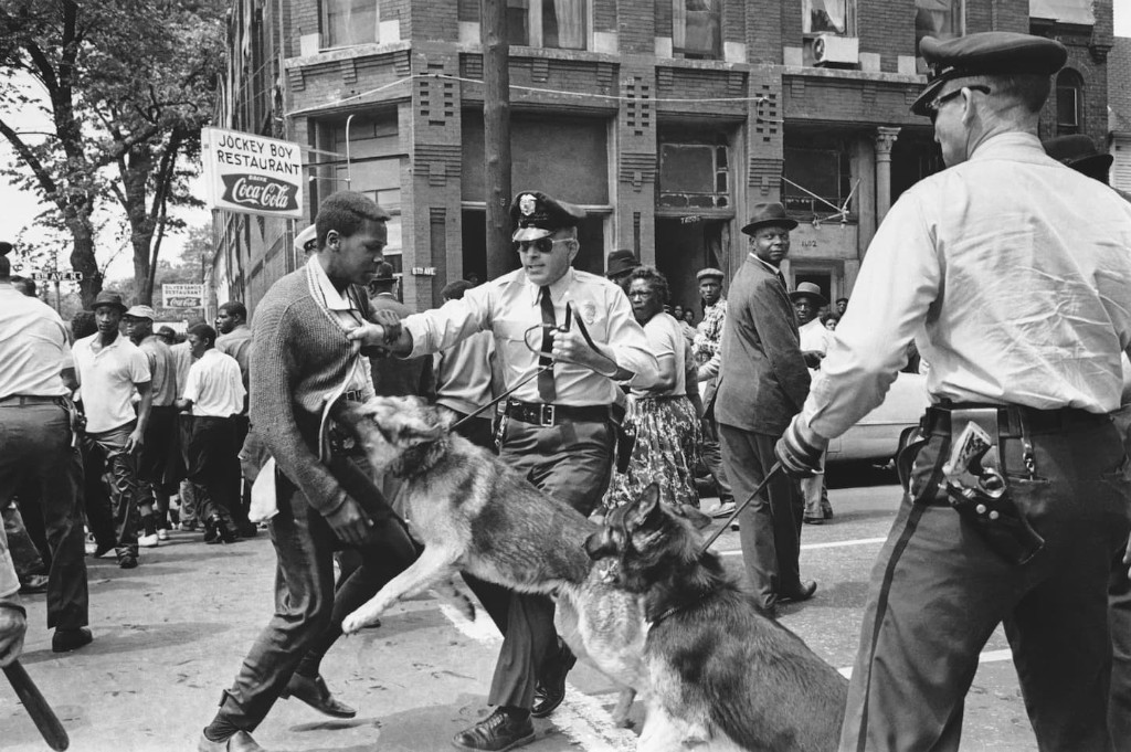 Trump's warning that 'vicious dogs' would attack protesters conjured centuries of racial terror