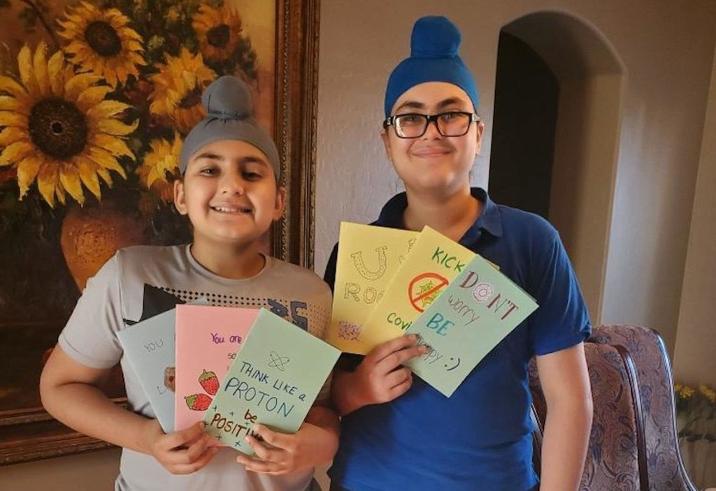 Through 'Project Smile,' two brothers lift coronavirus patients' spirits, one card at a time