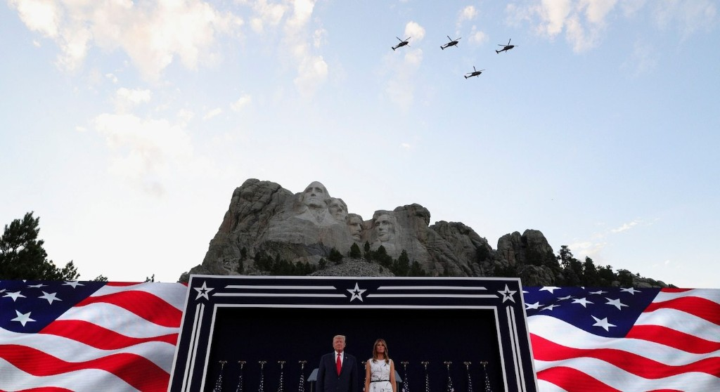Mount Rushmore is colossal kitsch, perfect for a populist spectacle