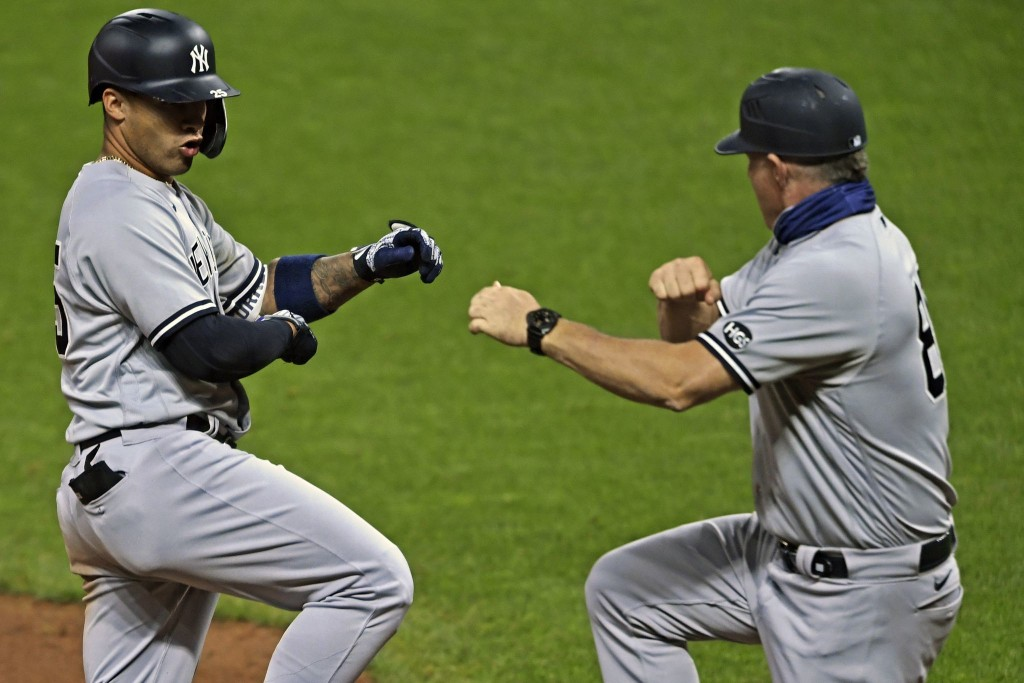 In playoff opener, Yankees tee off on Indians' ace and send a message to the rest of baseball