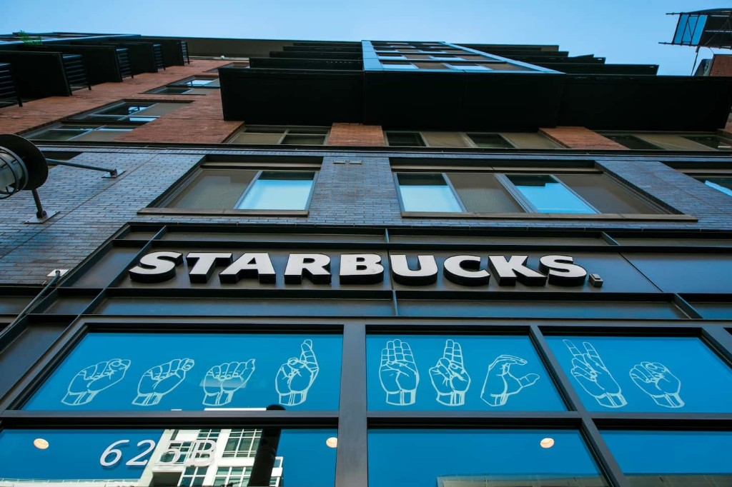 Starbucks opens first U.S. sign language store — with murals, tech pads and fingerspelling