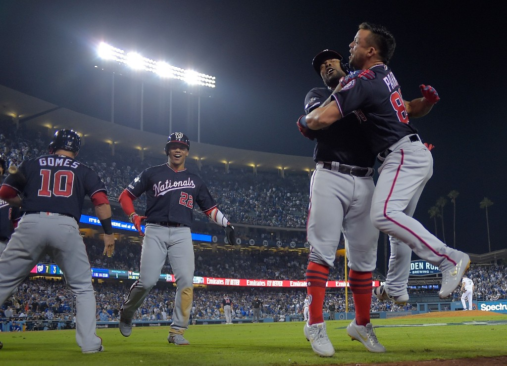 Howie Kendrick keeps the party going, and the Nats are dancing into the NLCS