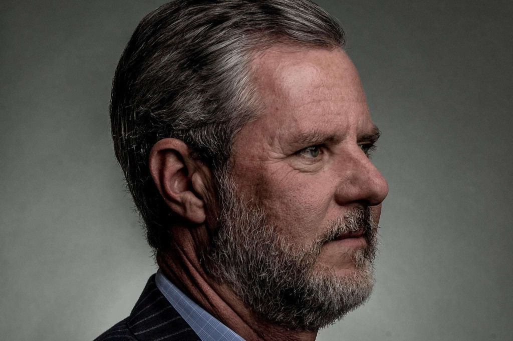 Jerry Falwell Jr. said a racy photo was 'in good fun.' A GOP lawmaker says he should resign.