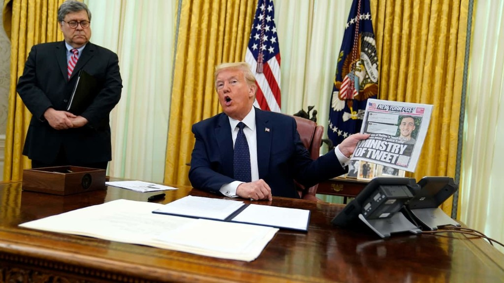 Trump readies executive order targeting Facebook, Google and Twitter, sparking widespread criticism about threats to free speech