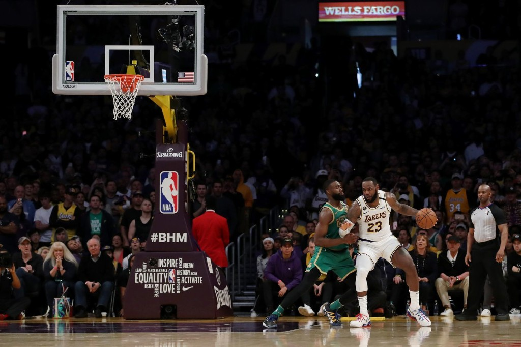 LeBron James's clutch shot against the Celtics is a sign of progress for the Lakers