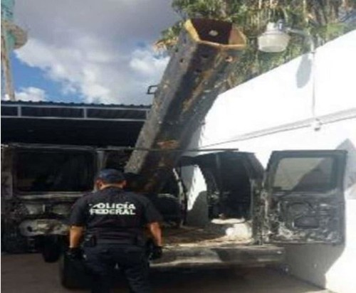 Mexican police found a 'homemade bazooka' that may have launched contraband over the border