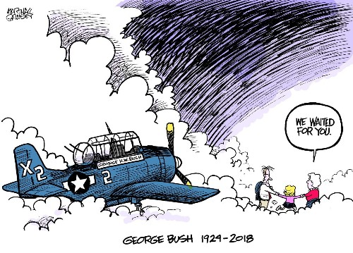 How this emotional George H.W. Bush cartoon went viral — touching even his family