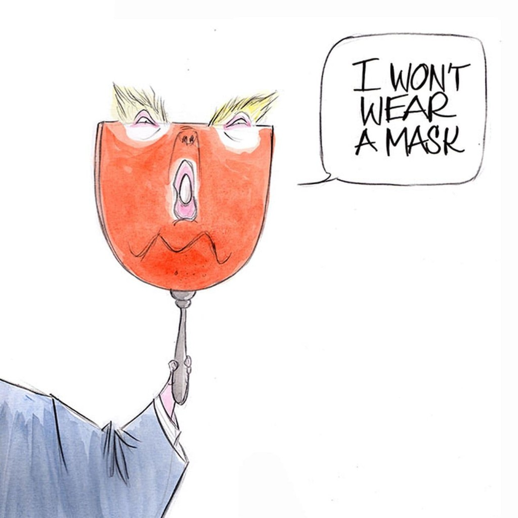 Trump announces a voluntary mask recommendation