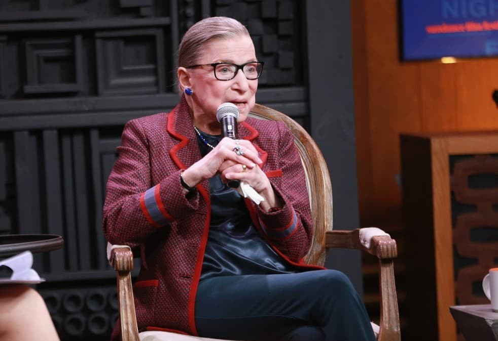 He had no idea Ruth Bader Ginsburg would be presiding over his naturalization ceremony