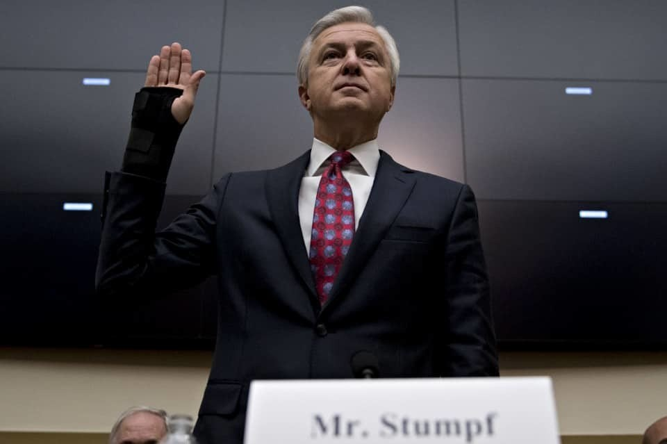 Wells Fargo CEO steps down in wake of sham accounts scandal