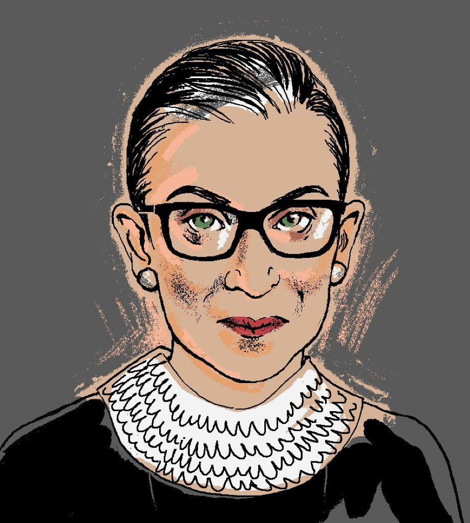 Ruth Bader Ginsburg, in art and words