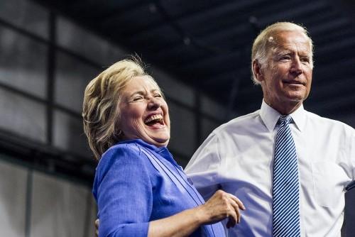 In Scranton, Pa., Hillary Clinton and Joe Biden's memory lane tour is an appeal to white working-class Democrats