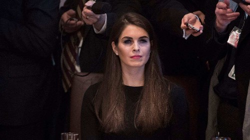 Hope Hicks: The quiet one in Trump's White House suddenly feels the glare