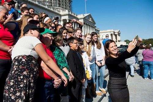 Youngest female lawmaker says social media is just part of the job