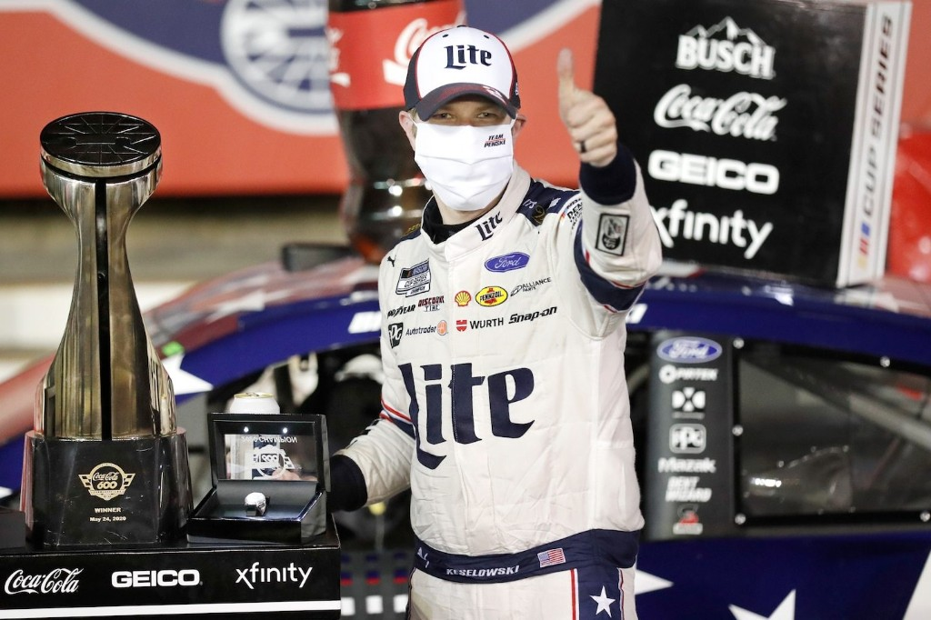 For Brad Keselowski at Coca-Cola 600, something good happened after midnight