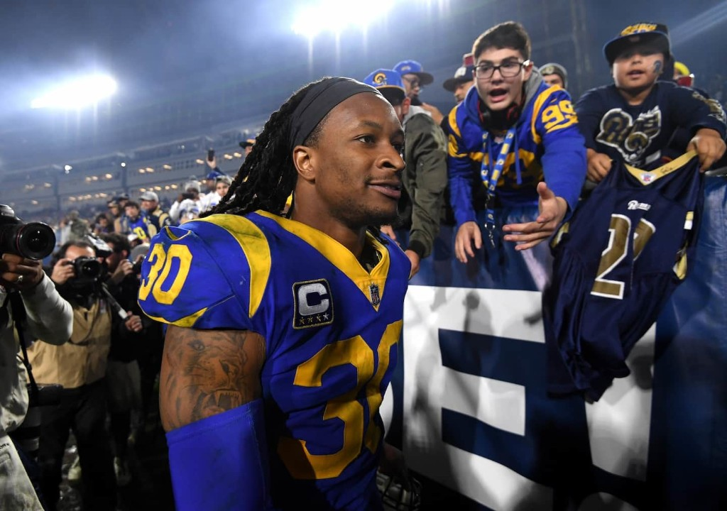 The Rams' Todd Gurley has become the ideal modern NFL running back. His response? Shrug.