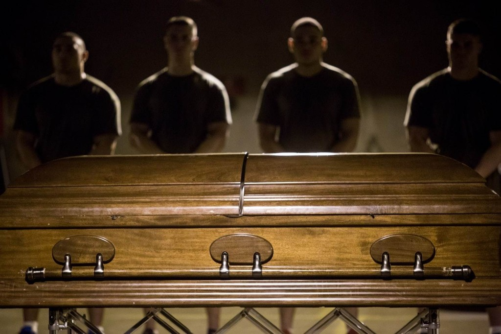 For Marines who carry their own to burial: 'The Last to Let You Down'