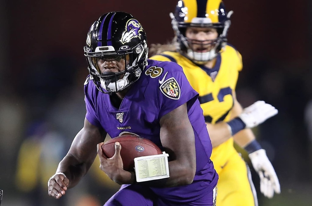 Lamar Jackson makes MVP case again, and Ravens all but knock Rams from playoff race