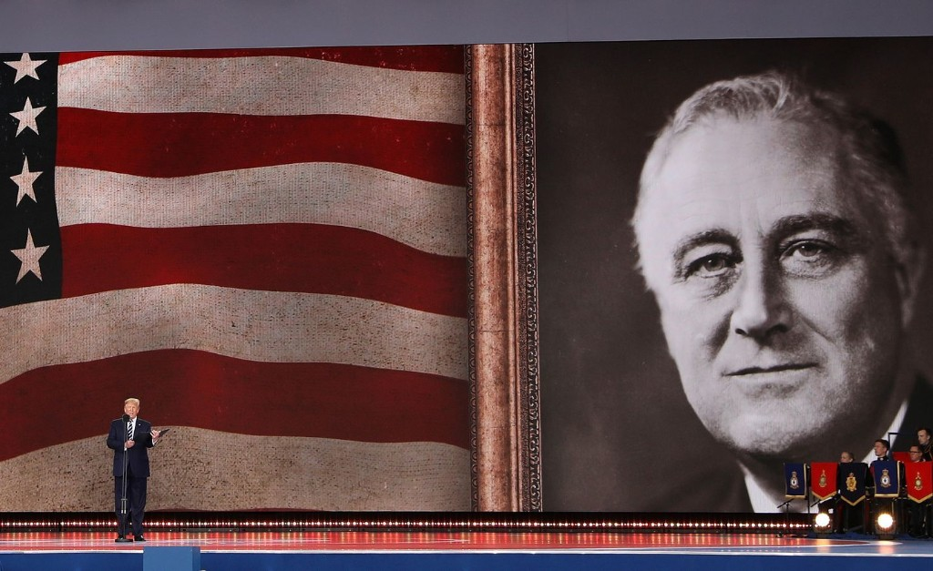 For D-Day, Trump recalls the heroism of ... Donald Trump