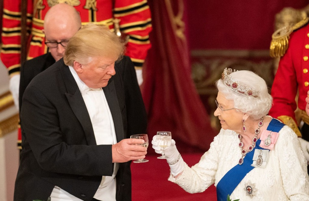 The queen has to remain neutral on Trump, but one comment in an otherwise diplomatic speech surprised