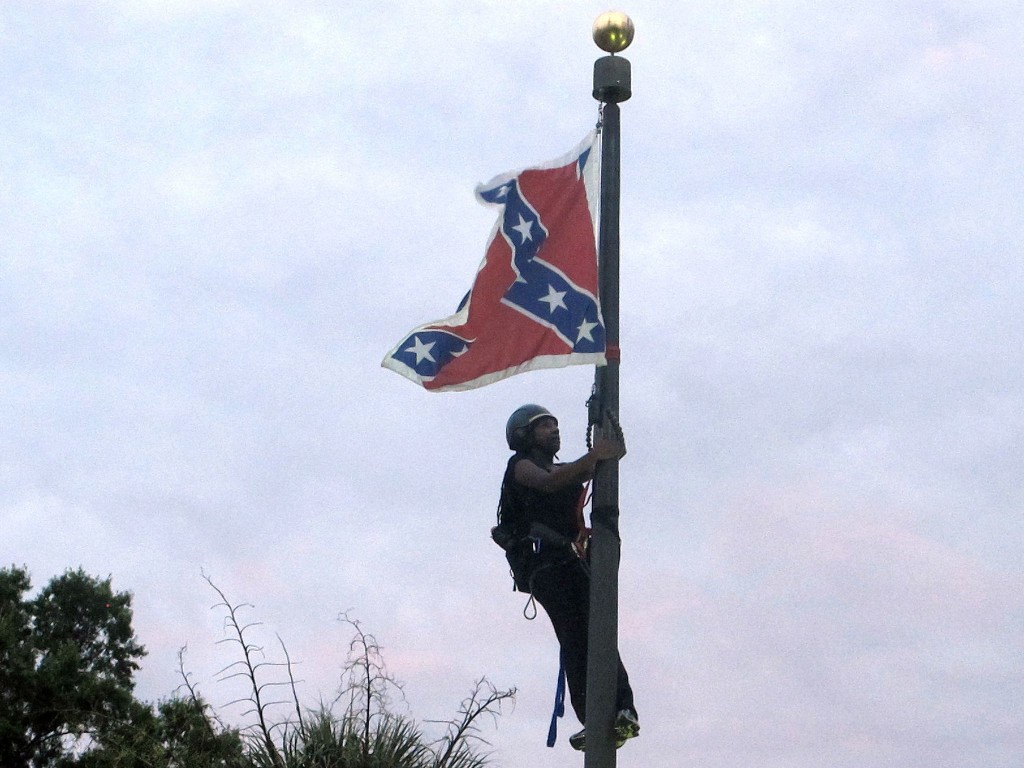 As Confederate monuments fall, don't forget Bree Newsome's athletic act of protest in 2015