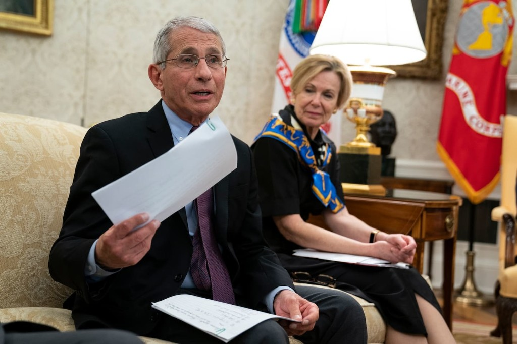 Anthony Fauci did in five minutes what Trump has failed to do for weeks