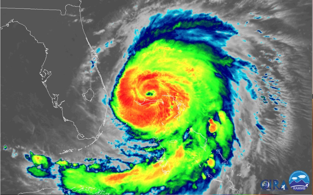 Tropical storm conditions lash Florida as Hurricane Dorian sets its sights on the Carolinas