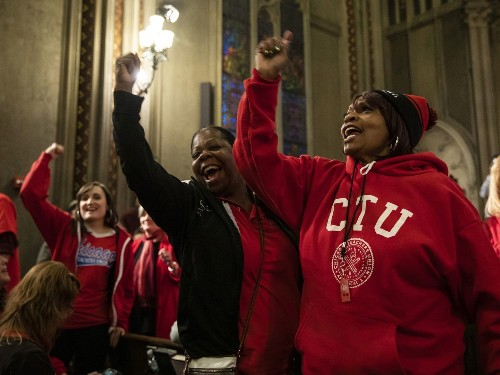 Chicago teachers say they will go on strike. They are demanding affordable housing for students.
