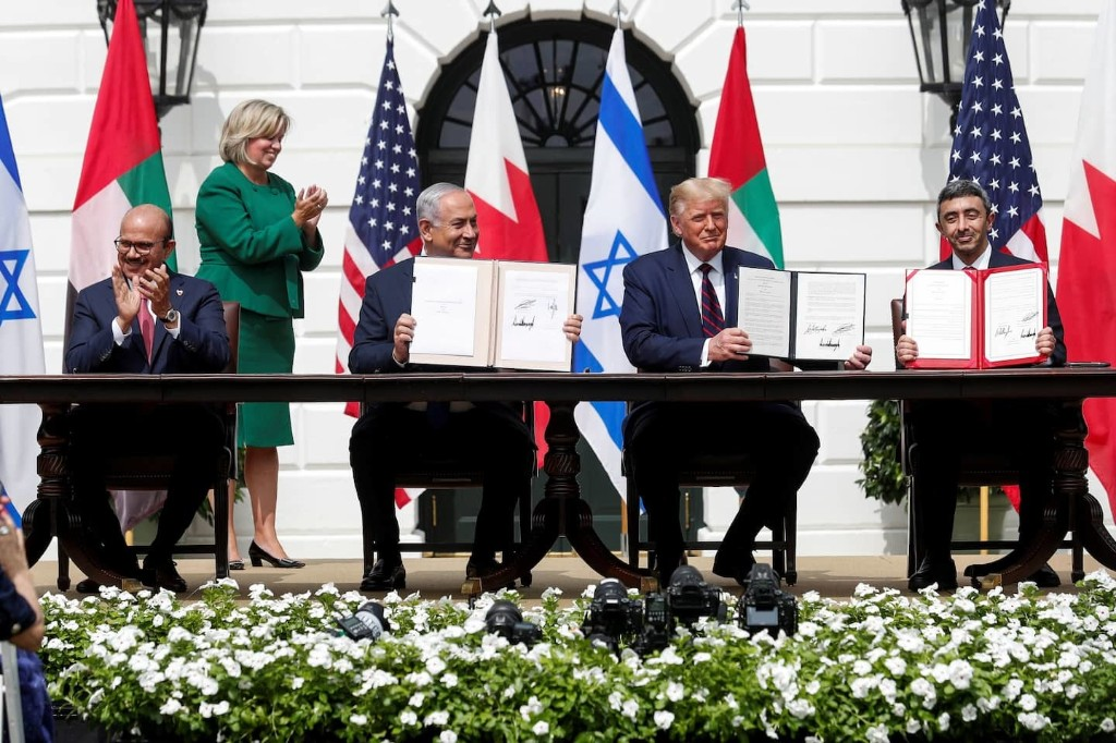 Trump critics hail accords between Israel and Arab countries even as original goal of Palestinian peace remains unmet