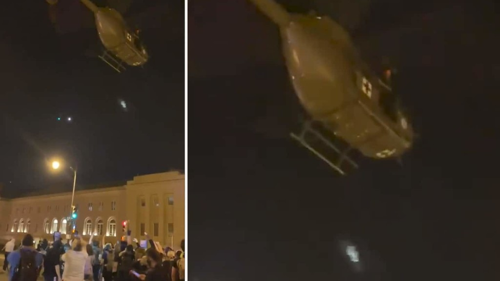 Use of medical helicopter to target protesters is under investigation, National Guard says