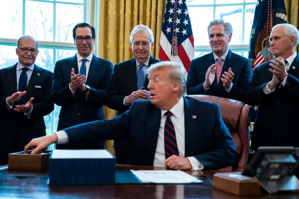 In unprecedented move, Treasury orders Trump's name printed on stimulus checks