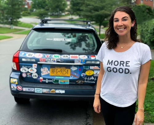 This woman has been on a three-year road trip documenting acts of kindness