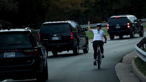 Cyclist who flipped off Trump wins county supervisor seat representing his golf club