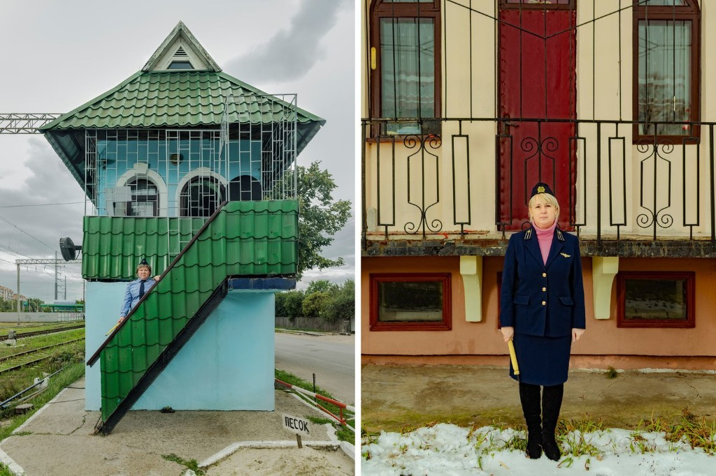 Meet the female railroad traffic controllers living in quirky houses alongside Ukraine's railroad system
